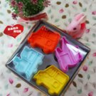 Cookie Cutter Stamp Mold 4pcs TRANSPORT DIFFERENT VECHICLES Series Pie Crust Cutter Set