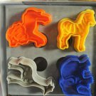 Cookie Cutter Stamp Mold 4pcs AFRICA ANIMAL SAFARI Series Pie Crust Cutter Set