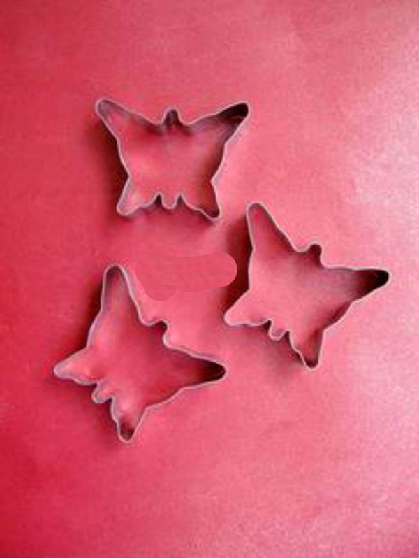 Stainless Cookie Cutter 3 pcs Set --- BUTTERFLY Design