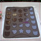 Cute Shape Macaroon Silicone 29x26cm Baking Mat Muffin Pastry Cookies Sheet