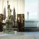 180x180cm PEVA USA Statue of Liberty Cool Design SHOWER CURTAIN BATHROOM USE