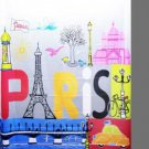 Paris in Love DESIGN Waterproof Shower Curtain Set 180 x 200 cm COLORFUL PARIS TOWER