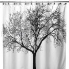 BLACK TREE Fabric PEVA 180x180cm Bathroom Shower Use SHOWER CURTAIN with HOOK