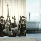 EIFFEL TOWER PARIS Cool Design 180x180cm EVA SHOWER CURTAIN For BATHROOM USE
