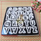 Alphabet Upper Class 26 Letter Plastic Cookie Biscuit Maker Cutter Box Set