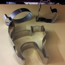 Cat & Fish Shape Multiple Easy Use Cheese Stainless Steel Cookie Cutter Set