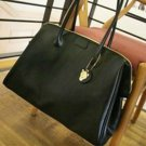 Black Color PU Leather Multiple Use Lady Handbag Carry Bag Easy Convenient Use