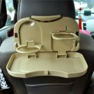 Car Use Fold-able Table Can Put Lunch Box and Drink Easy to Install & Remove