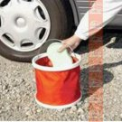 Multiple Use RED COLOR FOLD-ABLE 11 Liter Bucket Wash Car & Outdoor Can Use
