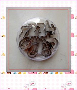 Stainless Steel Number Shape 0-9 Multiple Use Cookie Cutter Mold Set