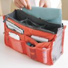CORAL Large Liner Organizer Bag Dual Zipper Purse Nice to Insert Inside BAGS