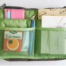 APPLE GREEN Color  Large Liner Organizer Bag Dual Zipper Purse Nice to Insert Inside BAGS