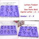 Letters & Number Fondant and Gum A-Z / 0-9 Set Alphabet Letter Number Paste Mold