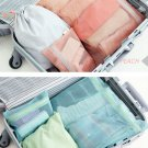 1 Set PEACH & LAKE BLUE COLOR 4 Different Size Travel Packing Mesh Travel Pouch 2 Set