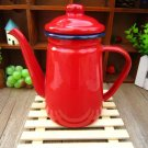 RED Color 1.1 Liter Enamel Steel Multiple Daily Use Teapot Good for Coffee & Tea