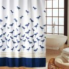 Blue Little Bird Cute POLYESTER 180 x 180 cm Bathroom Use SHOWER CURTAIN SET