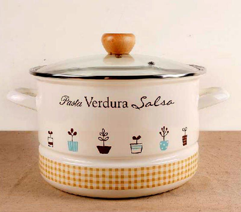 Secret Garden Design Cookware 5.5 L Boiling Pot Good for Soup Stewing Cookware