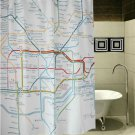 LONDON Subway Map Underground Cool Design 178x178cm Polyester Shower Curtain