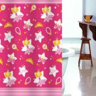 PRINCESS PINK Design 180 x 180 cm POLYESTER Bathroom Use SHOWER CURTAIN SET