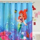 LITTLE MERMAID Cartoon 180 CM x 180 CM POLYESTER Shower Curtain Set