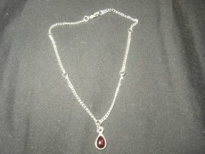 Red Pendant Anklet
