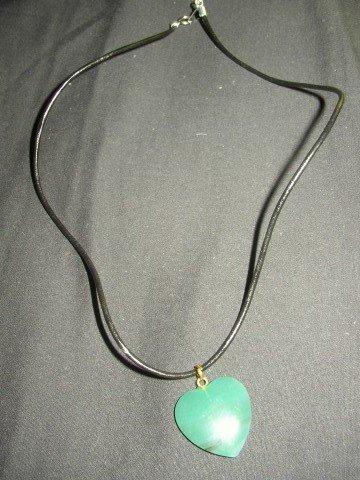 Aqua Green Heart Necklace