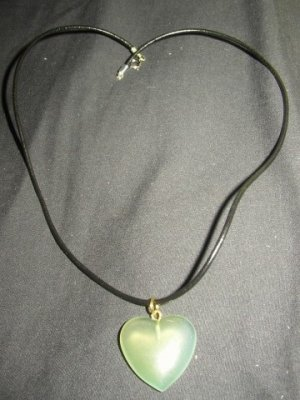 Light Green Heart Necklace