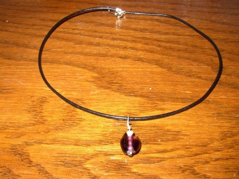 Two Tone Purple Necklace