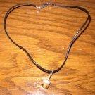 Two Tone Orange White Necklace