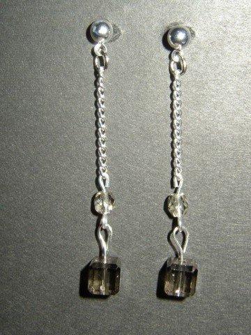 Gray Cube Earrings