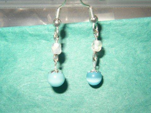 Blue Catseye Earring