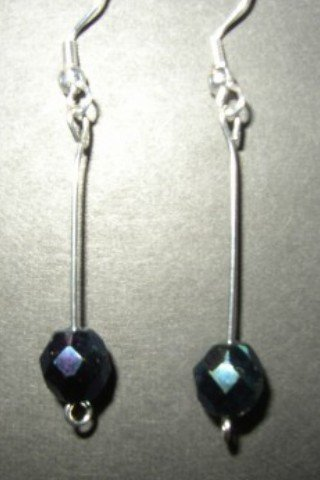 Metallic Blue Crystal Earring