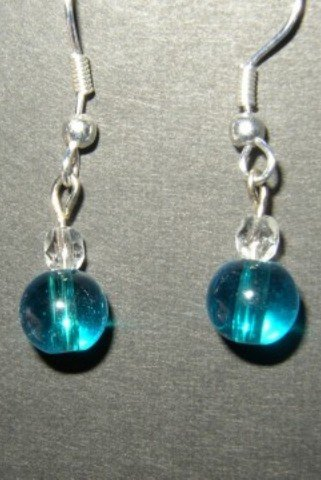 Blue Glass Earring
