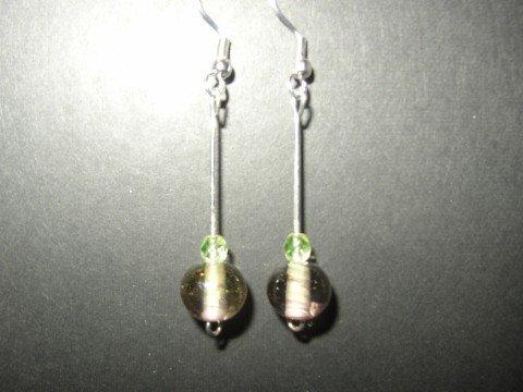 Pink Green Earring