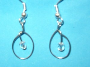 White Oval Earring