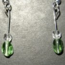 Green Oval Crystal Earring