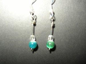 Bluegreen Spiral Earring