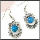 Earrings Tibetan Silver Turquoise Chandelier Pierced NEW #463