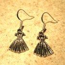 Earrings Tibetan Silver Ballerina Dress Charm Pierced Dangle NEW #505