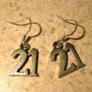 Earrings Tibetan Silver 21 Charm Pierced Dangle NEW #594