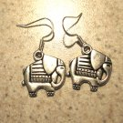 Earrings Pierced Tibetan Silver Elephant Charm NEW #482
