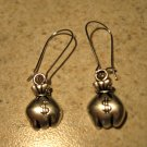 Earrings Pierced Tibetan Silver Money Bags Charm NEW #451