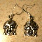 Earrings Pierced Tibetan Silver Buddah Charm NEW #699