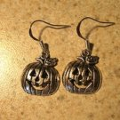 Earrings Tibetan Silver Happy Pumpkin Charm Pierced Dangle NEW #713