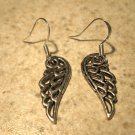 Earrings Tibetan Silver Angel Wing Charm Pierced Dangle NEW #504