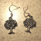 Earrings Tibetan Silver Money Tree Charm Pierced Dangle NEW #486