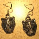 Earrings Tibetan Silver LSU Tiger Charm Pierced Dangle NEW #565