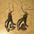 Earrings Tibetan Silver Love Hand Charm Pierced Dangle NEW #737