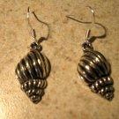 Earrings Pierced Tibetan Silver Trumpet Shell Charm NEW #593