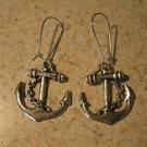 Earrings Pierced Tibetan Silver Anchor Charm NEW #702